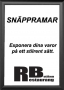 Snäppram Svart 70x100 44mm
