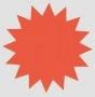 Stjärna 18cm Röd 100st/förp