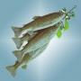 Figurer Fiskknippe öring 50 cm