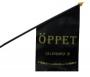Flagga Öppet 40x63cm Svart