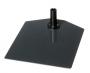 Plastram tillbehör - Fot metall standard mörkgrå 10st