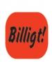 Infoetikett Billigt!, 35x26mm röd
