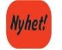 Infoetikett Nyhet!, 35x26mm röd, 4rlr