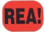 Infoetikett REA!, 35x26mm röd, 4rlr