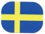 Infoetikett Svensk Flagga, 35x26mm, 4rlr
