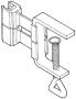 Plastram tillbehör  - Ram-hållare med tving 10st