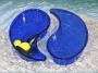 Skål droppe hel 29x15x6,5 cm Marinblå