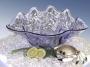 Skål snäcka 48 cm Isblå