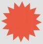 Stjärna 18cm Röd 25st/förp